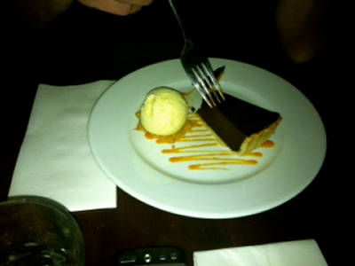 Very good chocolate tart at the NLT
