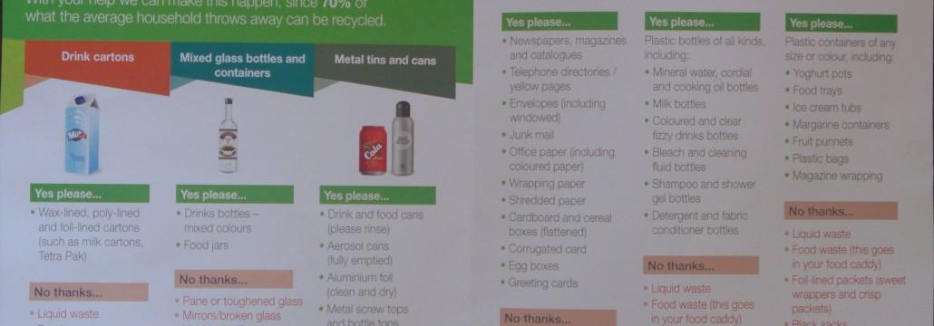 Recyclingleaflet
