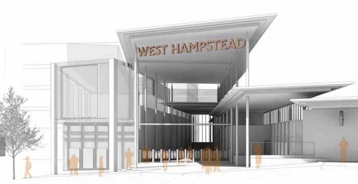 Concept drawing - station front