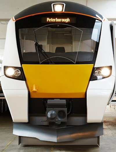 The new train, face on. Fancy a day trip to Peterborough? (Picture courtesy of FCC)