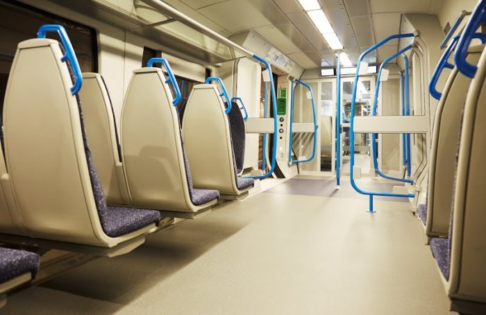 Standard class carriage interior. (Photo courtesy of FCC)