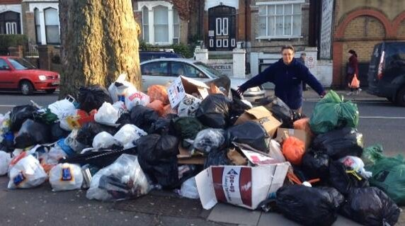 Messina/Kingsgate rubbish problem. Photo via James King