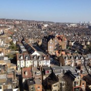 "Wonderful ""helicopter view"" of West Hampstead on this glorious day via Keith Moffitt"