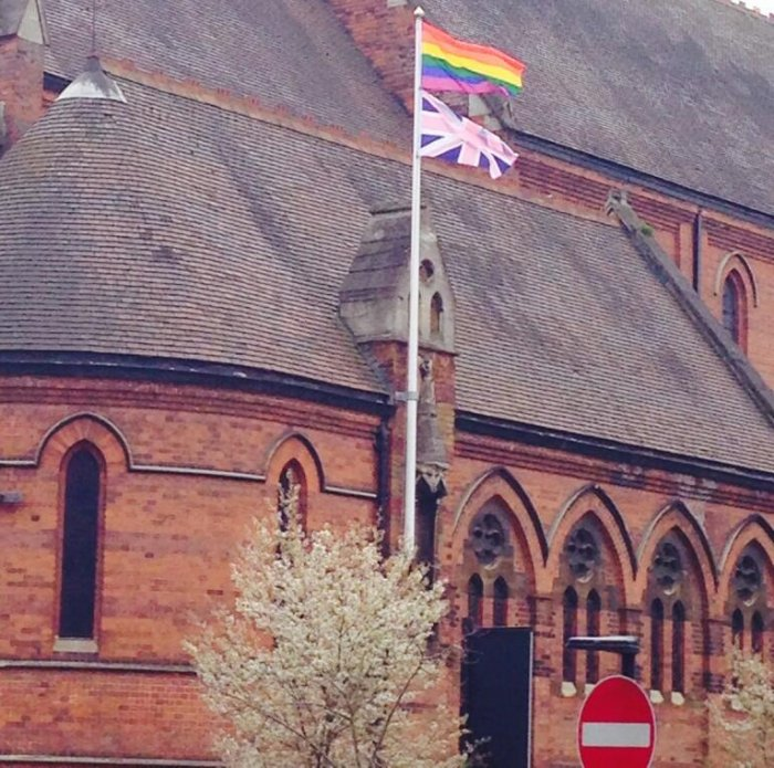 St James' nails it's colours to the mast  via Fr Andrew Cain