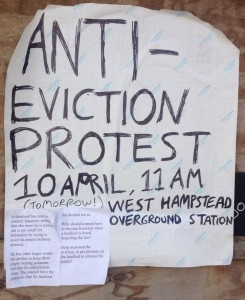 Eviction Protest poster