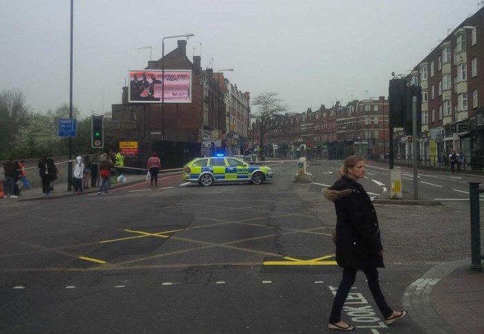 Road closure - photo via @stephenbudd