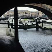 Limehouse Basin through the lock