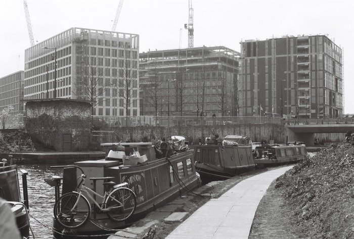 New offices in Kings Cross from the canal
