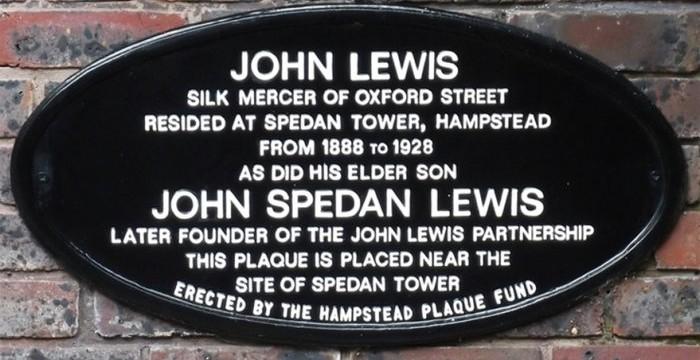 Spedan Tower plaque
