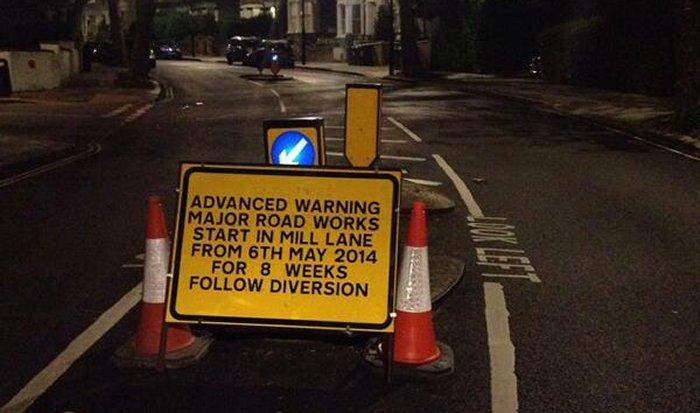 Mill Lane closure
