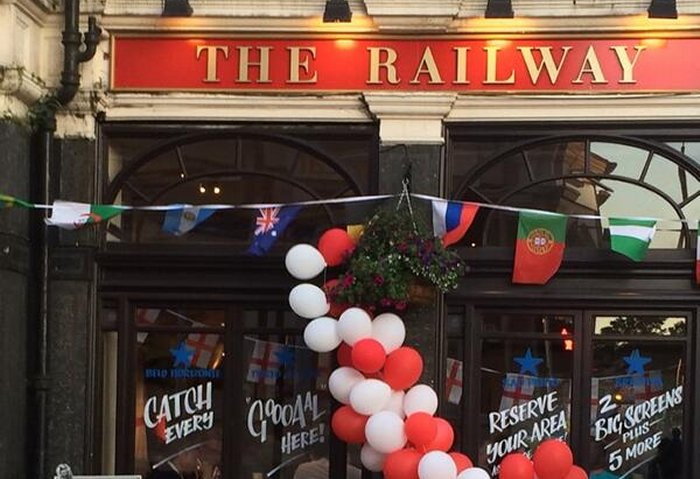The Railway ready for action #whampfootie via @bubela