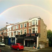 The pick of the (very many) photos of Sunday evening's full rainbow. Via @BillGlover