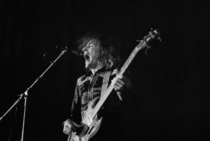 Jack Bruce in Hamburg, 1972. Photo Heinrich Klaffs
