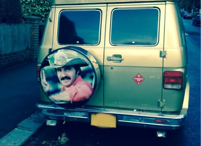 Burt Reynolds in West Hampstead via Simon Borkin