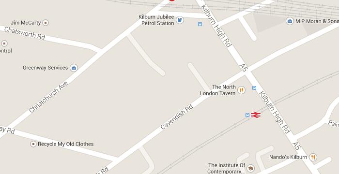 Kilburn_map_Dyne Road