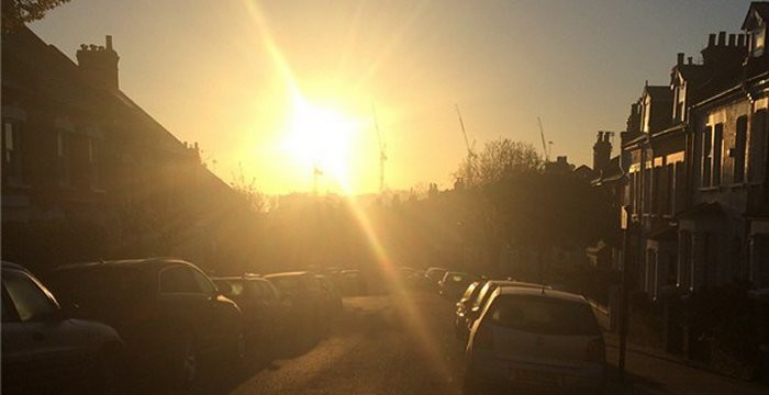 Bloody cold but beautifully fresh morning in West Hampstead via Steve Lowy