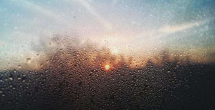 Happy Monday! Sunrise and condensed window  via Mauro Murgia