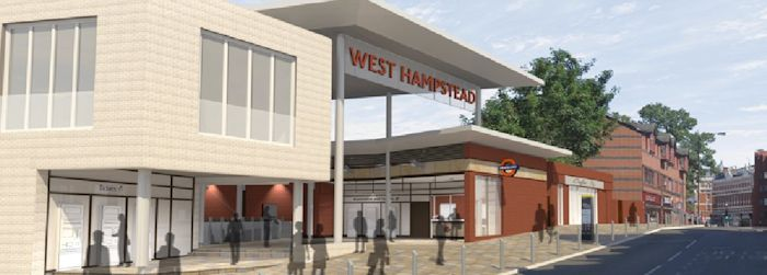 West Hampstead Overground station plan looking north