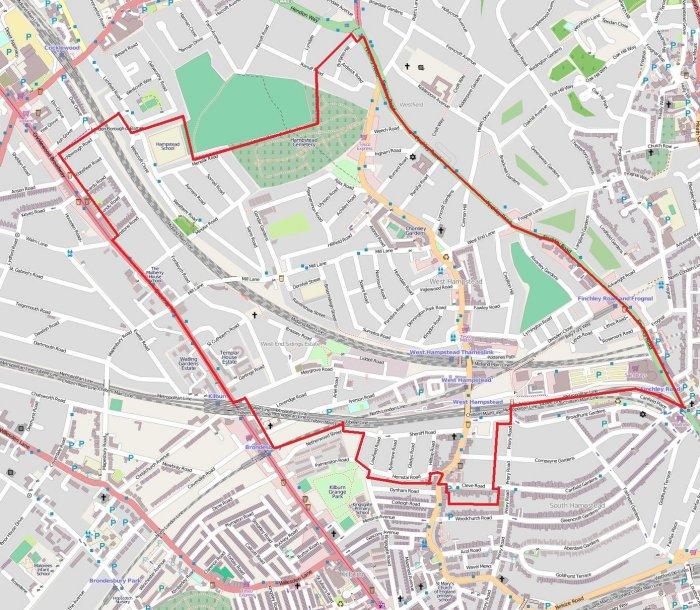 West Hampstead Neighbourhood Development Plan map