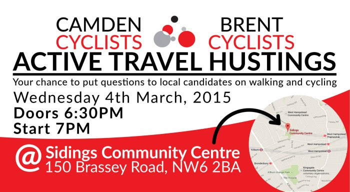 Active Travel Hustings @ Sidings Community Centre | London | United Kingdom