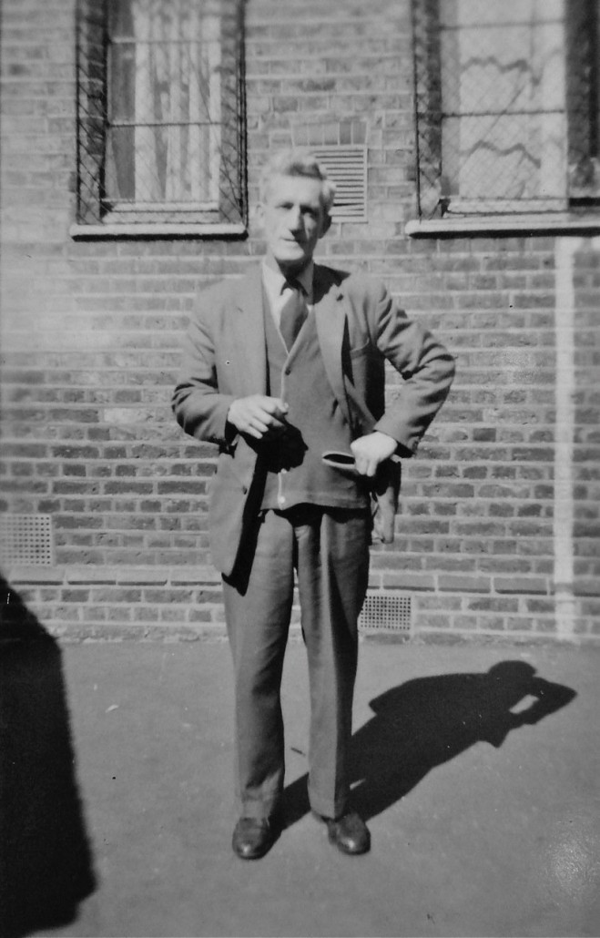 Mr Glassup, class teacher at St Mary's Kilburn in 1962