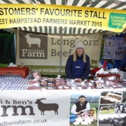 Abi at Tori & Ben's Farm's prize-winning stall