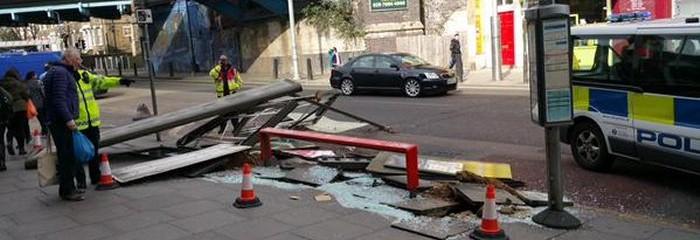 Err... Remember that bus stop on Kilburn High Road outside Tesco....  via Oliver Denton
