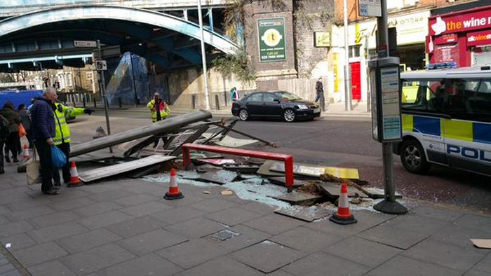 Err... Remember that bus stop on Kilburn High Road outside Tesco....  via Oliver Denton