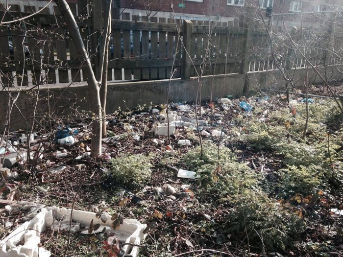 Netherwood Street clean-up before...
