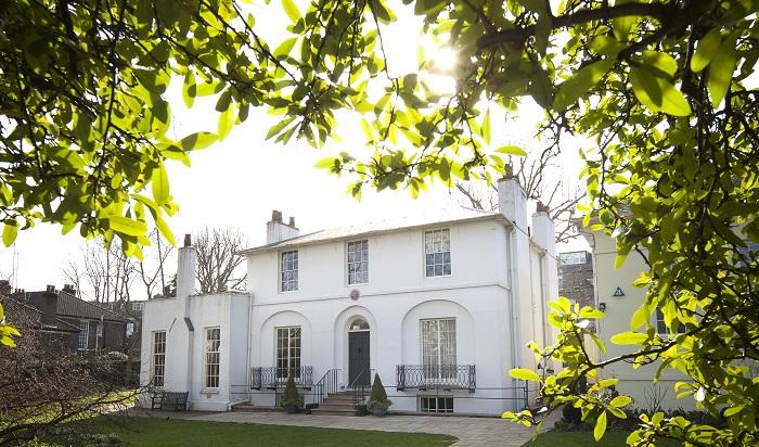 Keats House in its full sunny splendour