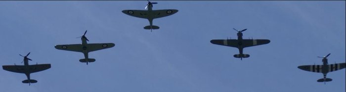 Spitfires over west Hampstead via @mauriceticulous
