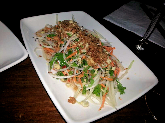 """Shimmering"" papaya salad"