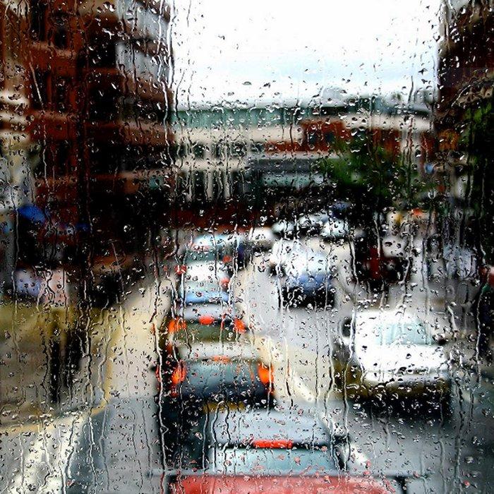 Photo of the week: Rainy bus window view of West End Lane via Luca Marengo