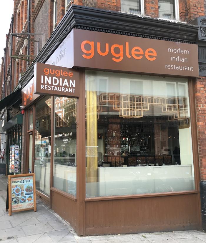 Modern font, modern food