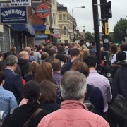 Chaos at West Hampstead tube after Thameslink failures. Photo via @jacquelinehey