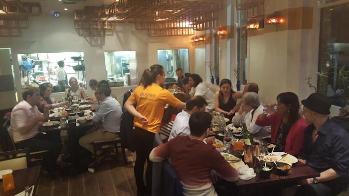 Twenty four locals enjoy dinner at Guglee