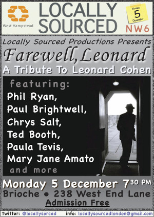 Farewell to Leonard Cohen from Locally Sourced