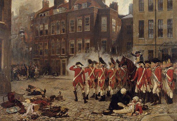 The Gordon Riots, 1780 by Seymour Lucas, (1879)