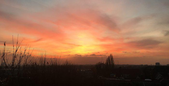 Sunset from Netherhall Gardens. Taken by Dominic Brett