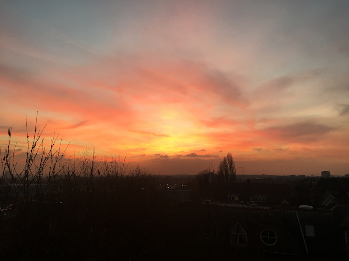 Sunset from Netherhall Gardens. Taken by Dominic Brett