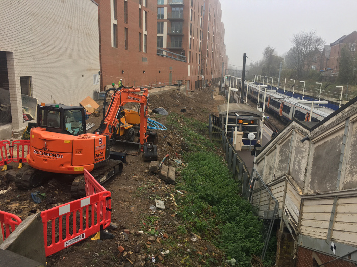 Work has indeed started on redevelopment of the Overground