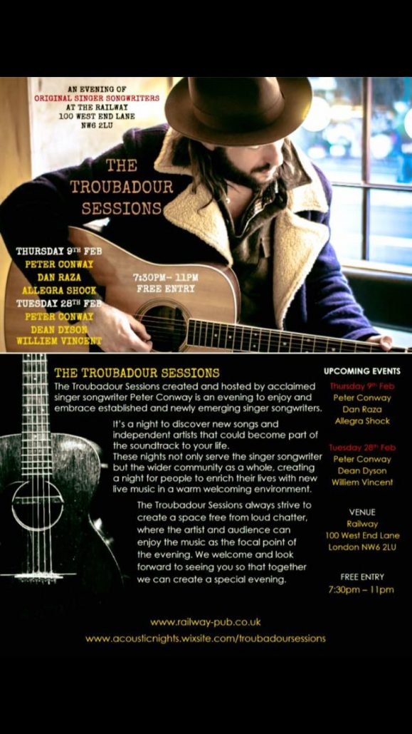 The Troubador Sessions @ The Railway | United Kingdom