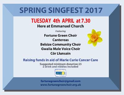 Charity Singfest @ Emmanuel Church @ Emmanuel Church