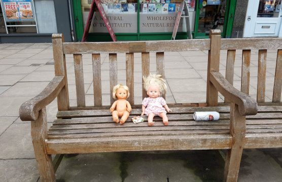 Oddly disturbing sight on our high street! As seen by  @julietrix1