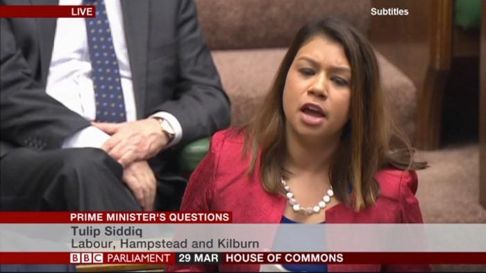 Where's the NHS money Boris? Image credit: Tulip Siddiq/BBC