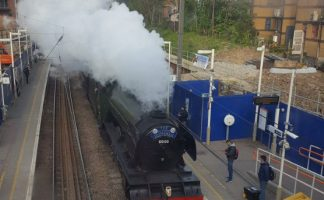 Flying Scotsman in West Hampstead! (train)spotted by @superfast72