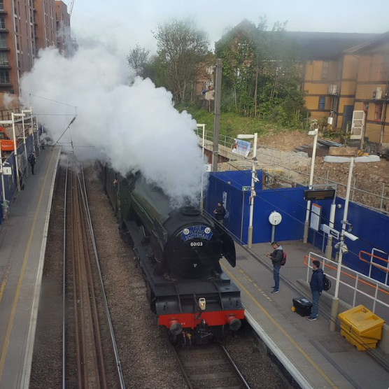 Flying Scotsman in West Hampstead, (train)spotted by @superfast72