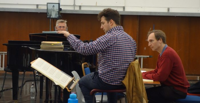 The Day After rehersal (Richard Peirson, James Henshaw and Nicholas Ansdell-Evans)