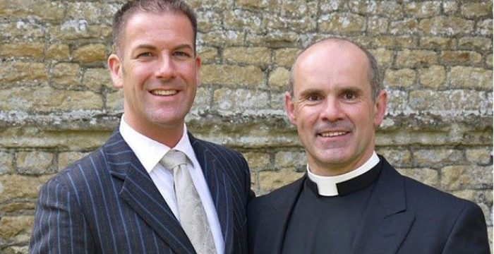 Father Andrew and his husband Stephen