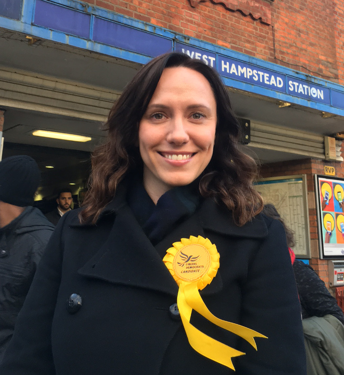Kirsty Allan, Liberal Democrat candidate for Hampstead and Kilburn